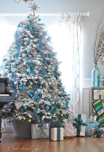 Blue Silver Themed Christmas Tree