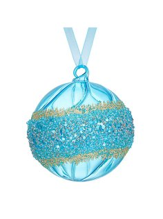 Light blue embellished bauble