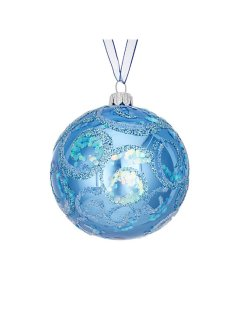 Blue decorative bauble