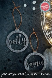 Personalised Acrylic Hanging Ornaments