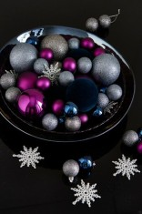 Purple Grey Navy Bauble