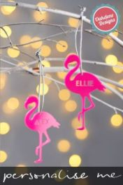Personalised Hanging Flamingos