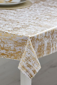 Gold Metallic Foil Table Cloth from Next.com starting at £20