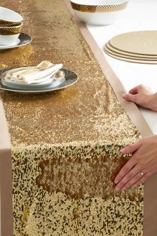 Gold Sequin Table Runner from Next.com starting at £24